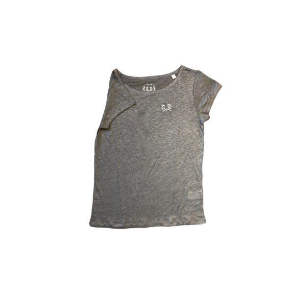 Leinen-T-Shirt Damen grau VS_k